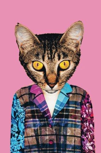 Hipster Cat Pop Art Notebook: Funny Retro Cat Notebook Journal | 120-Page Lined Notebook (Hipster Notebooks) (Pop-hipster)