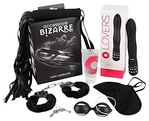 hne Grenzen - erotisches Sextoy Set in rot und schwarz für Frauen, Männer und Paare, Lovetoyset für mehr Spaß im Bett (6 teilig) (Spaß Für Paare)