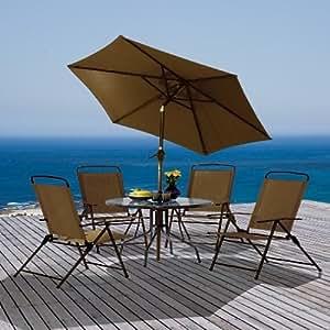 Transcontinental Group 4-Seater Capri Set (6 Pieces)