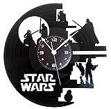 Instant Karma Wanduhr aus Vinyl, Vintage-Geschenk, Handgefertigt, Motiv: Death Star Wars Darth Vader BB8 Yoda