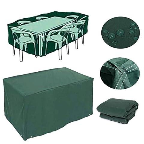 Feikai De plein air tout Météo Couverture Meubles, pluie étanche Couverture Jardin Cases Abri de patio en rotin Tables des chaises Cube Sofa Sets Protection (210x193x97cm