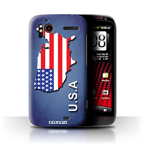 Stuff4® Hülle/Hülle für HTC Sensation XE/Amerika/Amerikaner/USA Muster/Flagge Land Kollektion