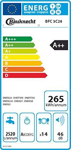 Bauknecht BFC 3C26 Freistehender Geschirrspüler / A++ / 265 kWh / Jahr / 14 MGD / 2520 L -