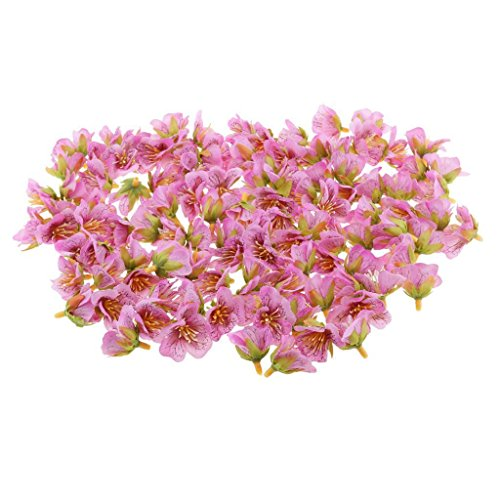 ELECTROPRIME 100Pcs Artificial Silk Flowers Heads Bulk Wedding DIY Decor New Light Purple