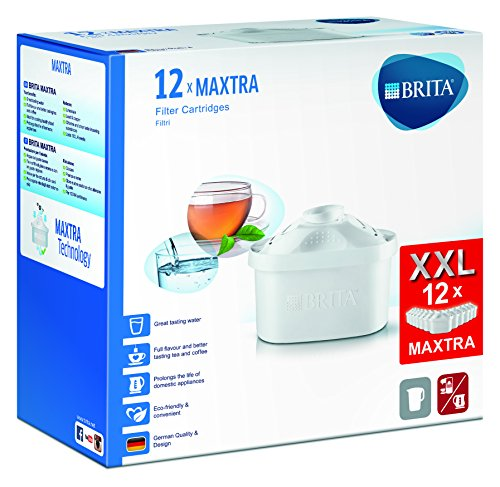 Brita Pack de 12 Cartouches MAXTRA pour Carafes Filtrantes