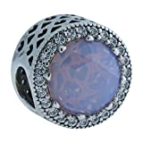 Pandora Damen-Charm 925 Silber Zirkonia rosa - 791725NOP