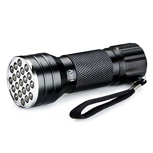 Negro UV LED linterna táctica 21 Leds 395NM Ultra violeta antorcha Detector de la lámpara de luz para la orina del perro mascotas manchas Protección del medio ambiente