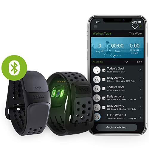 Mio Link Activity Tracker mit Herzfrequenzmessung, Ohne Brustgurt, Einstellbare Herzfrequenzzonen, EKG-genaues Fitnessarmband mit Smartphone App, 14,9 - 20,8 cm Handgelenkumfang, Slate schwarz