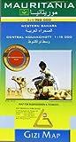 Mauritania Geographical Western Sahara: GIZI.141G by Gizi Map published by GiziMap (2008)