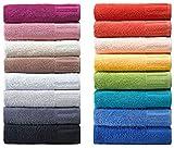 Super saugfähige Handtuch Serie Venecia, Waschhandschuh, Waschlappen, Gästetuch, Duschtuch, Badetuch - (3 x Handtücher, 040 beere)