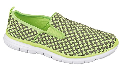 Koo-T , Baskets mode pour femme Lime / Grey