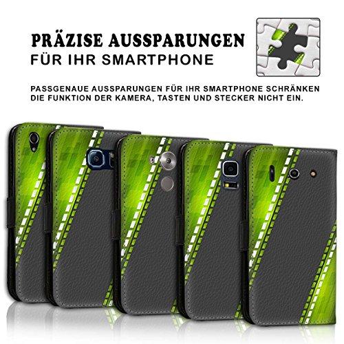 Wallet Book Style Flip Handy Tasche Case Schutz Hülle Schale Motiv Etui für Apple iPhone 6 / 6S - Variante UMV6 Design12 Design 7