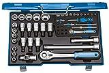 GEDORE 19 V 20 U-10 Steckschlüsselsatz Knarrenkasten 50tlg. 4-30mm 1/4 + 1/2 Zoll