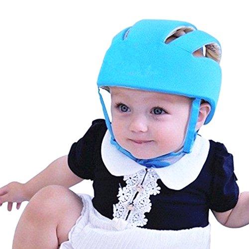 Qiorange Kleinkind Safety Helmet gegen Stöße für Babyhelm Kopfschutzmütze beim Lauflernen verstellbar (Blau)