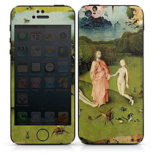 Apple iPhone SE Case Skin Sticker aus Vinyl-Folie Aufkleber Der Garten Eden Adam und Eva Kunst DesignSkins® glänzend