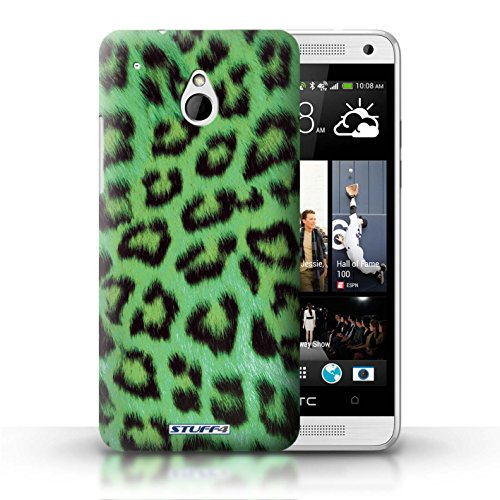 Kobalt® Imprimé Etui / Coque pour HTC One/1 Mini / Jaune conception / Série Peau de Léopard Animal Vert