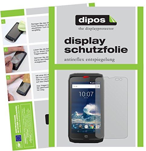 dipos I 6X Schutzfolie matt passend für Crosscall Action-X3 Folie Bildschirmschutzfolie