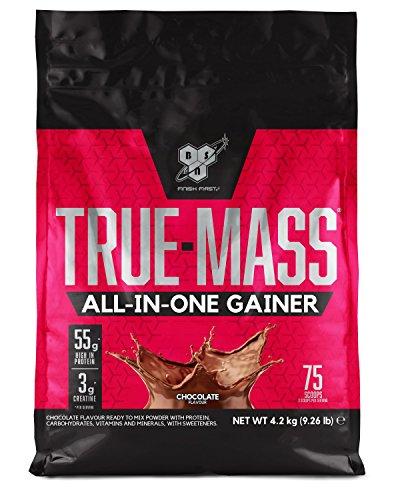 bsn all in one proteine in polvere per aumentare la massa muscolare, cioccolato, 4.2 kg, 25 porzioni