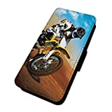 Motocross Stunt Bike Trick – Flip Case Wallet Cover Samsung Galaxy S7 Edge