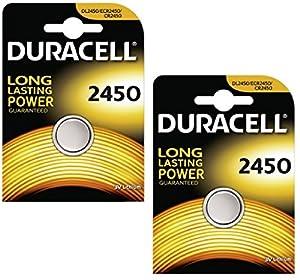 Duracell CR2450 - Juego de 2 pilas de botón, litio, 3 V, incluye embalaje por Duracell