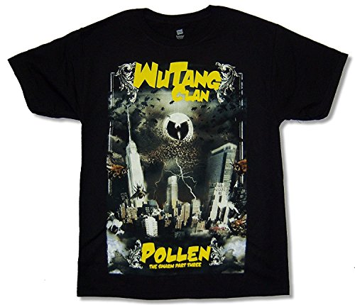 Hanes Bravado Adult Wu Tang Clan Pollen Black Tee Shirt (Large) (Album-cover Adult T-shirt)