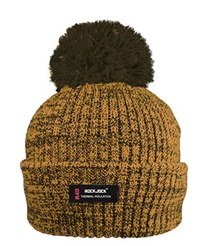 RockJock R40 Wärmedämmung Damen Marl Bobble Hut mit Fleece Futter (Schlitten Mit Pom)