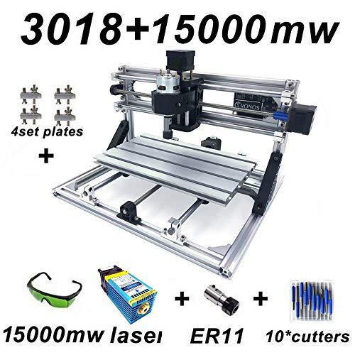Laser-carving-messer (CNC Fräsmaschine Maschine Arbeitsbereich 300 * 180 * 45mm DIY CNC Router Maschine GRBL Control 3 Achsen Mini Holz PCB Acryl Fräsmaschine Metall Gravur Carving Maschine)