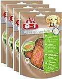 8in1 Fillets Pro Digest Größe S (funktionale Leckerlies für Hunde, Hähnchensnack mit speziellem Nutri-Center zur Unterstützung einer gesunden Verdauung), 4er Pack (4 x 80 g)
