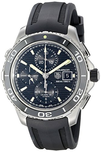 Tag Heuer CAK2111da uomo.FT8011Aquaracer orologio analogico display svizzero automatico nero