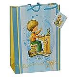 Unbekannt Geschenkbeutel / Geschenktasche Junge groß - Schulanfang Schuleinführung Tüte Beutel Geschenktüte Tasche