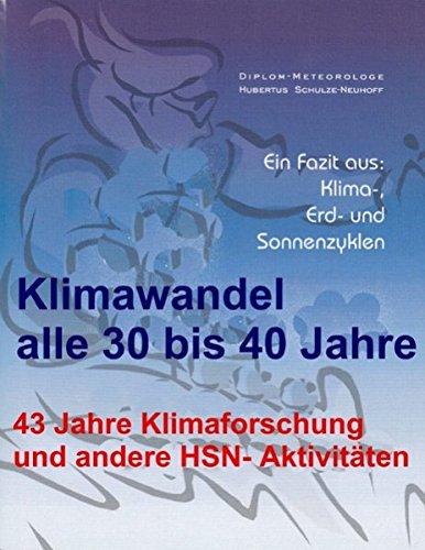 Klimawandel alle 30 bis 40 Jahre: 43 Jahre Klimaforschung und andere HSN-Aktivitäten
