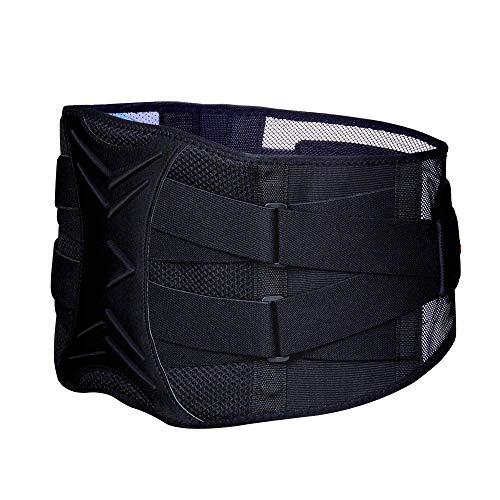 ZHIJING Rückenbandage mit Stützstreben und Verstellbare Zuggurte und atmungsaktiver Nylonstoff ideal für Arbeitsschutz entlastet die Rückenmuskulatur und zur Haltungskorrektur (XXL 99-116cm)