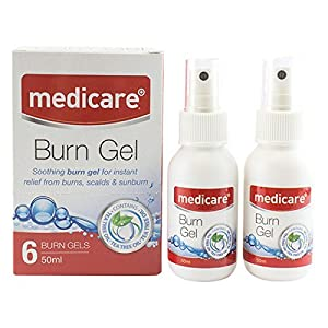 Medicare Burn Gel Spray (50ml) – Beinhaltet Teebaumöl