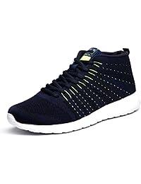 Los zapatos corrientes de los hombres que practican deportes al aire libre calzan los zapatos netos respirables del entrenamiento del entrenamiento