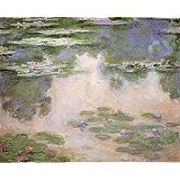 """Stampa artistica / Poster: Claude Monet """"Nympheas"""" - stampa di alta qualità, immagini, poster artistici, 100x80 cm"""