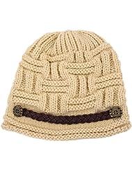 SODIAL(R) B¨¦ret Femme Chapeau Fille Hiver Chaud Tricotage Crochet Bonnet