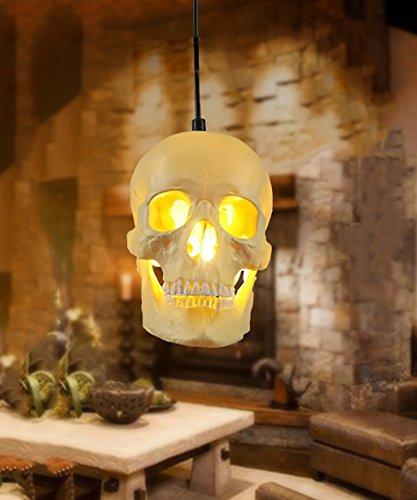 ZHANWEI Lámpara Colgante Retro Resina Cabeza Simple candelabro lámpara de Techo Restaurante Creativo Bar cafetería Tienda de Ropa Cabeza de Calavera Luces Decorativas Luces Colgantes