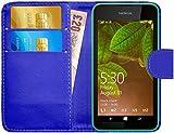 G-Shield Hülle für Nokia Lumia 530 Klapphülle mit Kartenfach - Blau