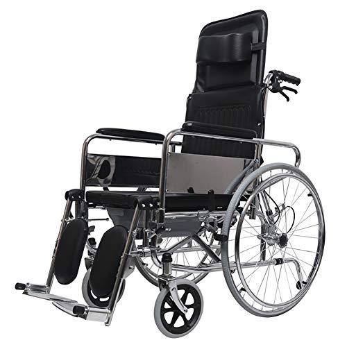 Transportrollstühle Fahren sie medizinische leichte stahltransportschwenkbare fußstützen, die mit wc faltbar sind