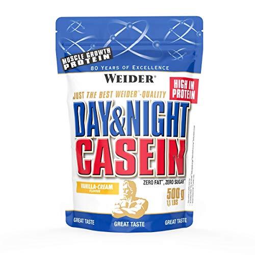 Weider Day und Night Casein Beutel 2er Mix Pack, Vanille-Sahne, 2 x 500 g (1 x 1 kg)