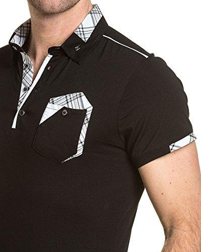 BLZ jeans - Polo schicken schwarzen Mann mit Tasche Schwarz