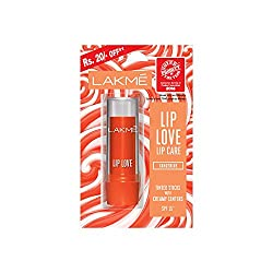 Lakme Lip Love Lip Care, Tangerine, 3.8 g