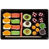 Look de O de Look Candy Sushi, Deliciosos Sushi Caja de fruta goma/Marshmallow