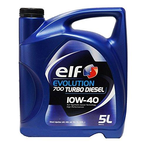 Elf - Tanica di olio per auto Turbo Diesel, 10W- 40, da5lit