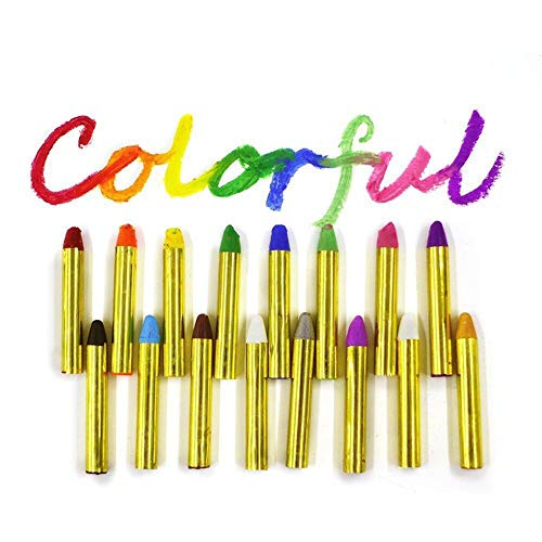 Hilai Gesichts-Lack Crayon Face Painting Kit 16 Farbe Gesicht und Körper Crayons Sicher und ungiftig waschbar Gesichts-Lack für Kinder