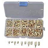 TOOGOO(R) 300 Stueck/ Kit M3 Schraubmutter 4-12mm Spacer Sechskant Messing Isolation Spalte Threaded Motherboard Standoffs Gelb