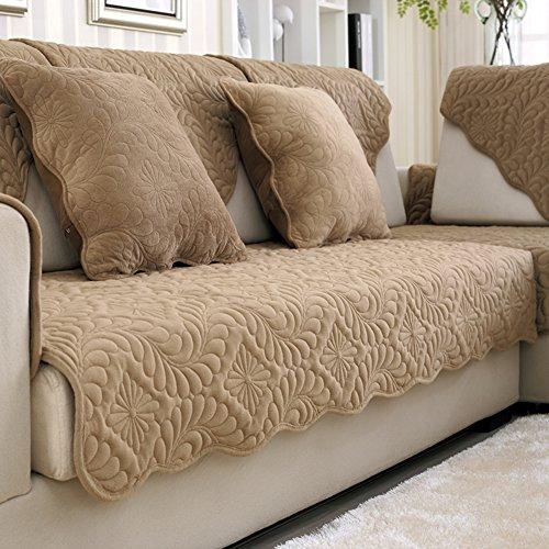 Ispessimento breve peluche cuscino in inverno/Tessuto coprisedili/ in pelle antiscivolo telo copridivano-G 50x70cm(20x28inch)