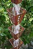RegenKette zu cup Kupfer antik für Dachrinnen ForHome® Fenster -