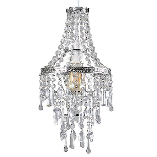 modern-4-tier-chrome-ceiling-pendant-light-shade-with-clear-acrylic-jewel-effect-droplets
