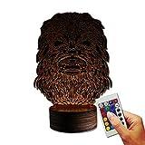 Stuff4Players Star Wars Dekolampe Chewbacca Kopf (3D-Hologramm Illusion)
